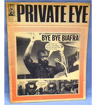 Vintage Private Eye. 1970. Issue 211. Bye Bye Biafra