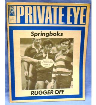 Vintage Private Eye. 1969. Issue 207. Springboks. Rugger Off