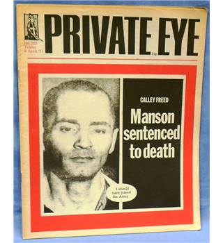 Vintage Private Eye. 1971. Issue 243. Manson Sentenced to Death