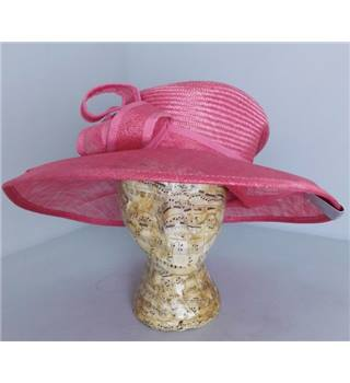 BNWT Marks and Spencer Coral Pink Wide Brimmed Hat