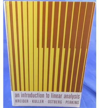 An Introduction to Linear Analysis
