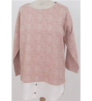 NWOT M&S Collection size: 14 pink jumper with shirt effect