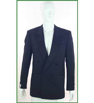 Diamond - Men's Size: 38R - Black - Wool Mix - Double breasted dinner jacket