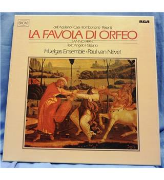 1982. RCA Seon. La Favola di Orfeo. Huelgas Ensemble. Paul van Nevel. 2LPs