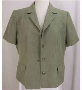 Debenhams - Size: 16 - Light green - Smart short sleeved jacket