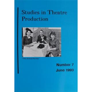 Studies in Theatre Production (Number 7, June 1993)