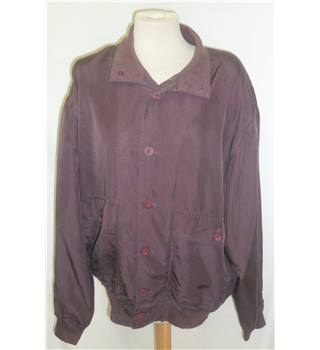 Jac Tissot -Size: L - Purple - Smart silk jacket / coat