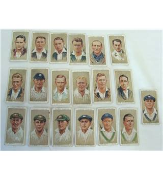 Antique Cigarette Collector Cards - Cricketers 1934