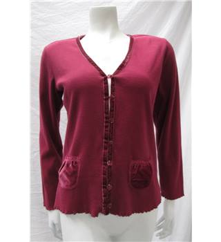 *Style Inc size XS burgundy red cardigan
