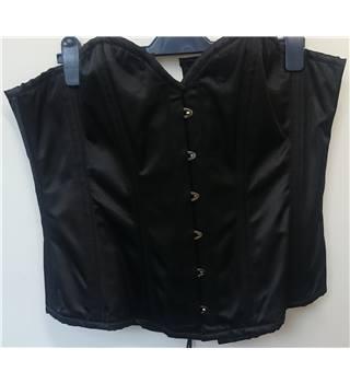 black overbust corset size 36 waist trainer goth emo