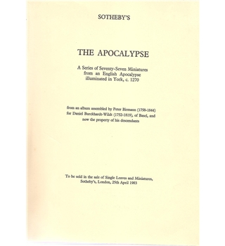The Apocalypse -Sotheby's auction catalogue dated 1983.