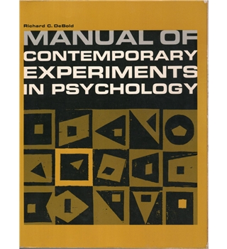 Manual of Contemporary Experiments in Psychology