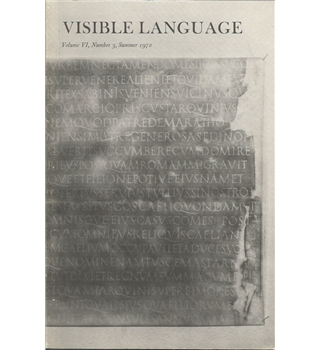 Visible Language-volume VI, number 3, summer 1972