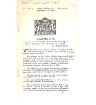 London Building Acts (Amendment) Act 1939