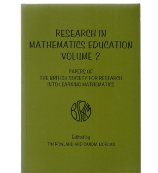 Research In Mathematics Education Volume 2