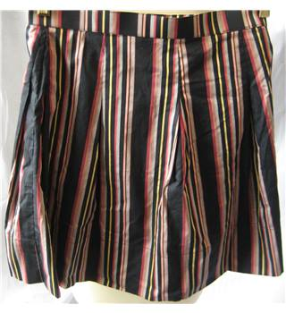 Black striped cotton homemade pleat skirt size W29 Unbranded - Size: S - Multi-coloured - A-line skirt