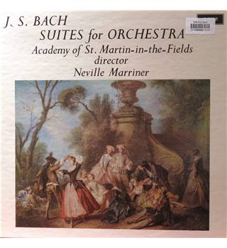 J S Bach Suites for Orchestra, Academy of St. Martins in the Fields/Marriner, Thurston Dart, Wm Bennett.  Argo 687 2LP SET