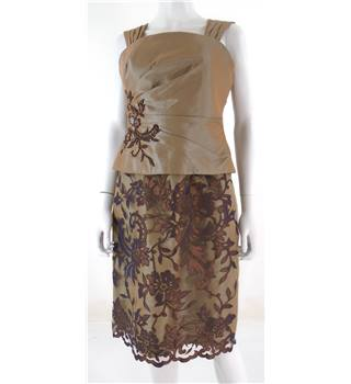Social Occasions by Mon Cheri Size 10 Pearlescent Coffee Occasional Dress