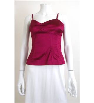 Coast Size 10 Burgundy Occasion Top