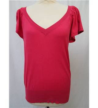 Oasis - Size: 12 - Salmon Pink -Short sleeved Jumper