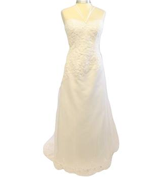 D'Zage - Size: 12 - White - Wedding dress
