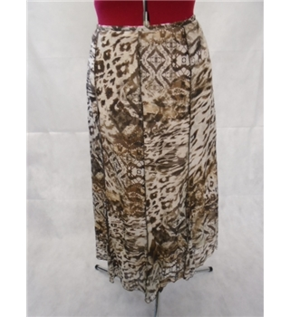 *Gerry Weber size: 14 beige/brown animal print skirt