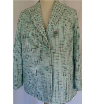 Basler Size 20 Aqua and Brown Jacket