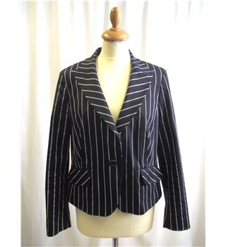 Planet - Size: 14 - Black and white - Striped - Jacket