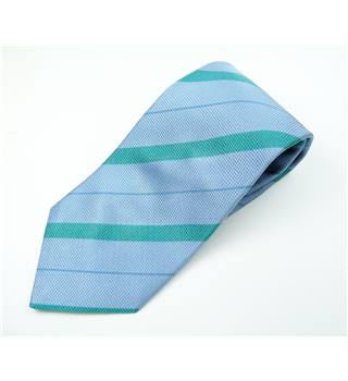 Mirto Blue & Green Striped 100% Silk Tie