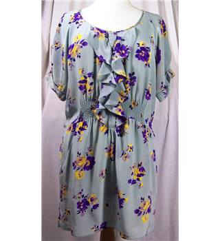 Rebecca Taylor Blue Silk Printed Mini dress- Size: 6