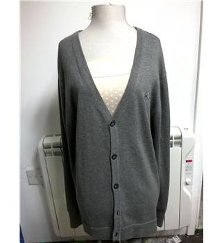 Charcoal Grey Cardigan by Soviet Black Label (Size L)
