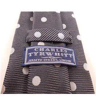 Charles Tyrwhitt One Size Grey and White Dotty Tie