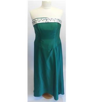 ALFRED ANGELO Emerald Green Strapless Dress. Size: 16