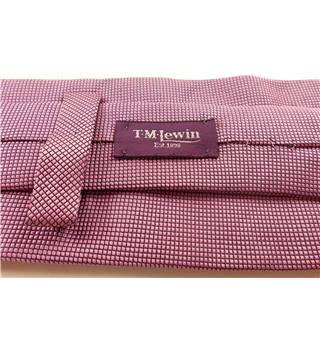 T.M.Lewin 100% Silk Square Patterned Tie