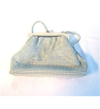 Unbranded Taupe Metallic Chain Mesh Evening Purse