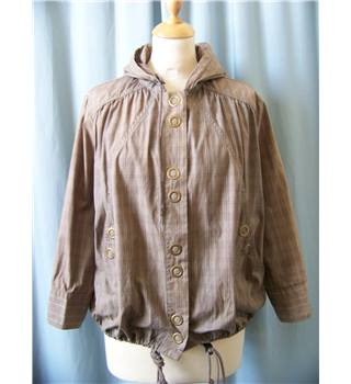 MNG Casual Sportswear - Size: S - Brown - Casual jacket / coat