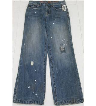 "BNWT Fox Denim Size: 28"" Blue Distressed Jeans"