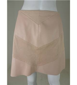 Zara Woman Size M Pastel Pink Faux Leather A-Line Skirt