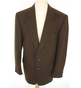 "Douglas Size: M, 40"" chest, tailored fit Bitter Chocolate Brown Stylish Wool & Cashmere Blend Designer Single  Breasted Jacket."