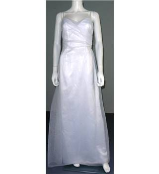 Watters and Watters Size 8 White Column Wedding Dress