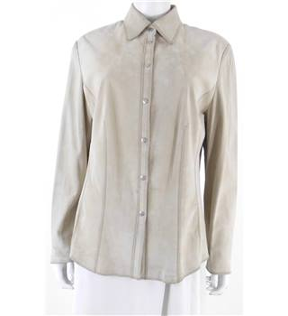 Gerry Weber Size 16 Beige Suede Light Weight Boho Style Jacket