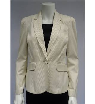BNWT - F&F - Size 12 -  Stripped White - Suit Jacket
