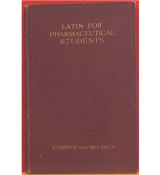 Latin for Pharmaceutical Students