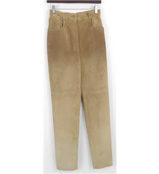Georges Rech Size 10 Beige Suede Trousers