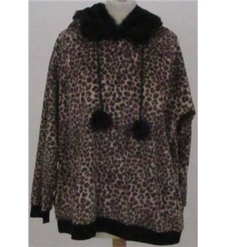 NWOT M&S size: 22 brown leopard print hooded pyjama top with eye mask