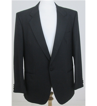 Pin Stripe size 44R Black Single breasted Tuxedo jacket