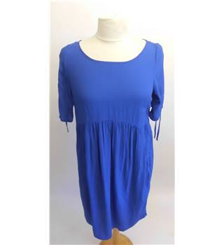 Mama Licious Maternity Dress Blue Size: S