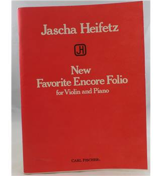 Jascha Heifetz - New Favorite Encore Folio for Violin and Piano.