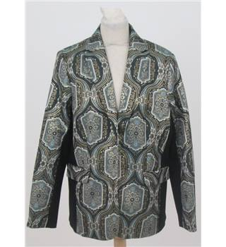 NWOT M&S Twiggy Size: 14 Green Metallised Floral Jacket