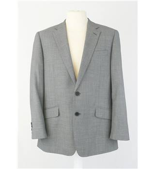 "Jaeger 40""S Grey Pick & Pick Single Breasted Wool Jacket"